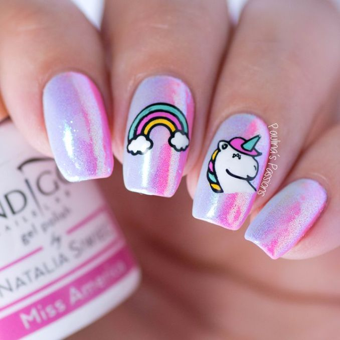 Bright nail art with a unicorn: stylish ideas for manicure in the photo and how to do it 101