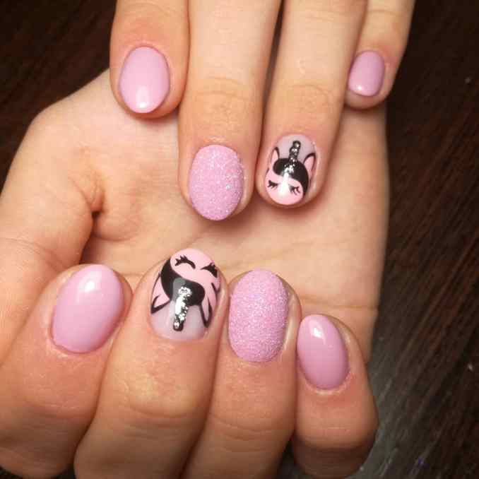Bright nail art with a unicorn: stylish ideas for manicure in the photo and how to do it 27