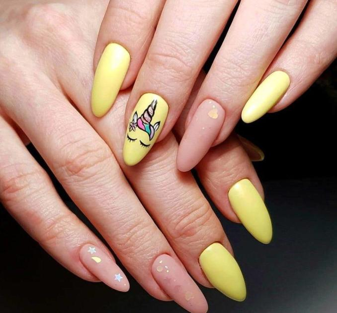Bright nail art with a unicorn: stylish ideas for manicure in the photo and how to do it 57