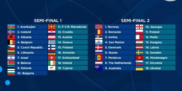 Eurowizja 2018 próby półfinałów