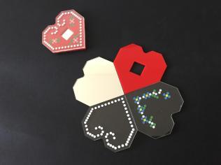 Dekonstruirano licitarsko srce - 4 podloška za čaše
