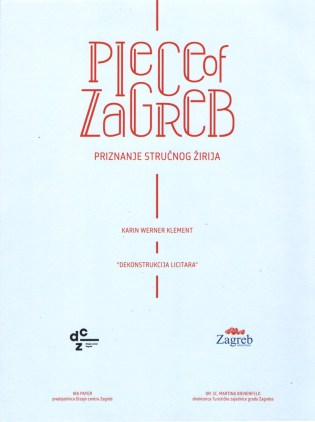 Piece of Zagreb-priznanje