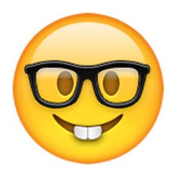 Image result for nerd emoji