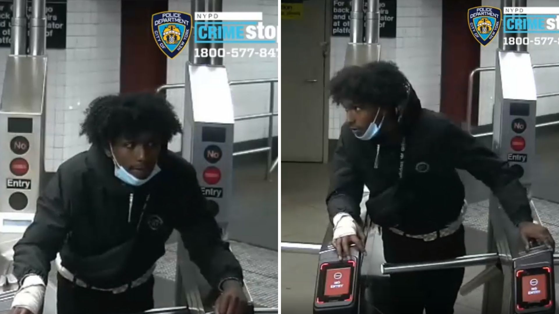 Manhattan subway slashing suspect