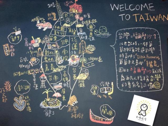 TOP HOSTELS IN TAIPEI: Chalk Mural at Sunny Hostel Taipei