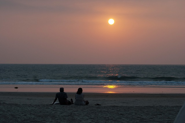 Couple, Beach, South, Goa, Sunset, Valentine, Lovers