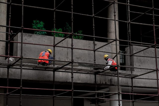 Construction Workers at a Building