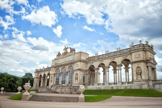 View of Gloriette in Schonbrunn - Vienna