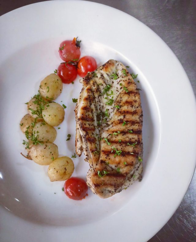 Grilled Chicken in a Plate
