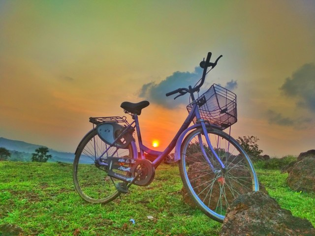 Sunset and Bicycle
