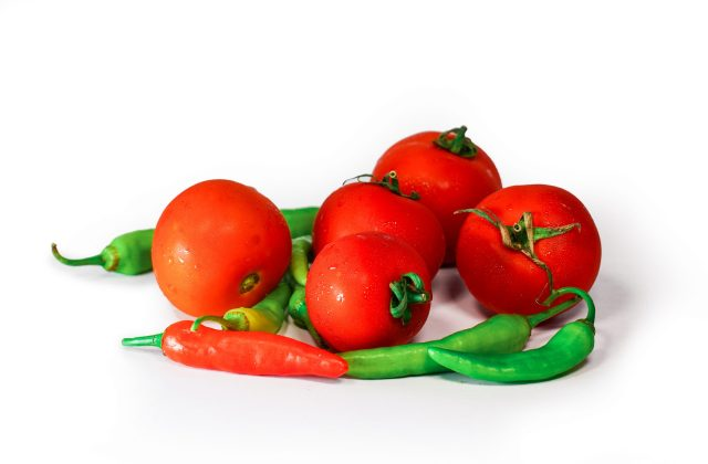 Tomatoes and Green Chilli
