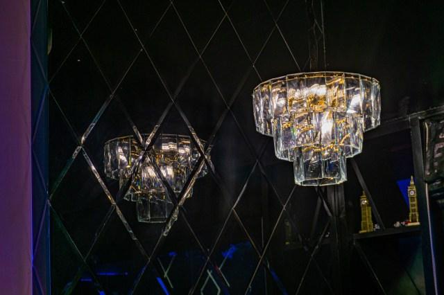 chandelier reflection