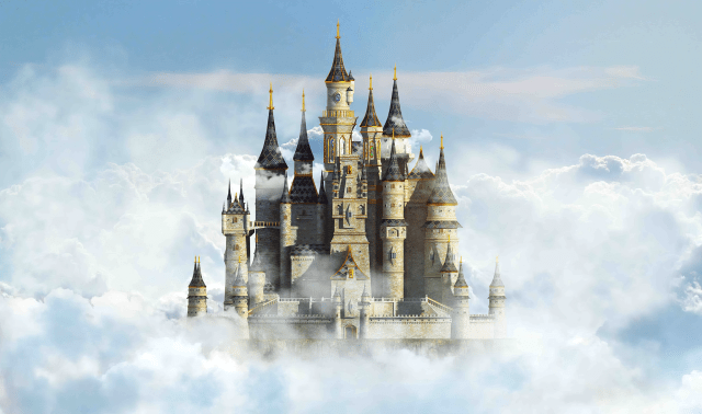 3D Model of a Castle in the Sky
