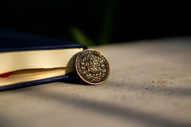 1/2 ANNA Coin in India-British