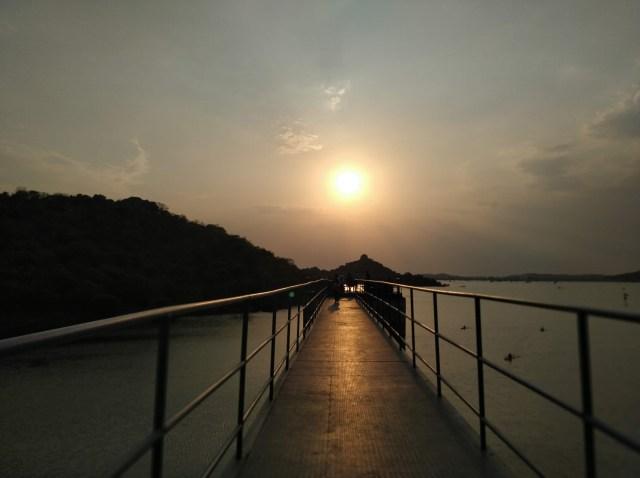 A captivating sunset scenery