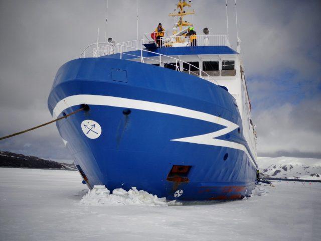 A ship in Antarctica