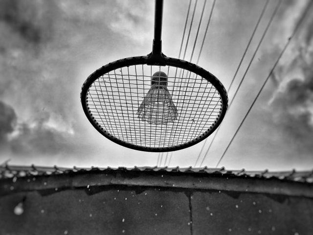 Badminton on a rainy day