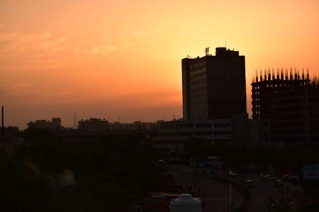 Dawn at its peak