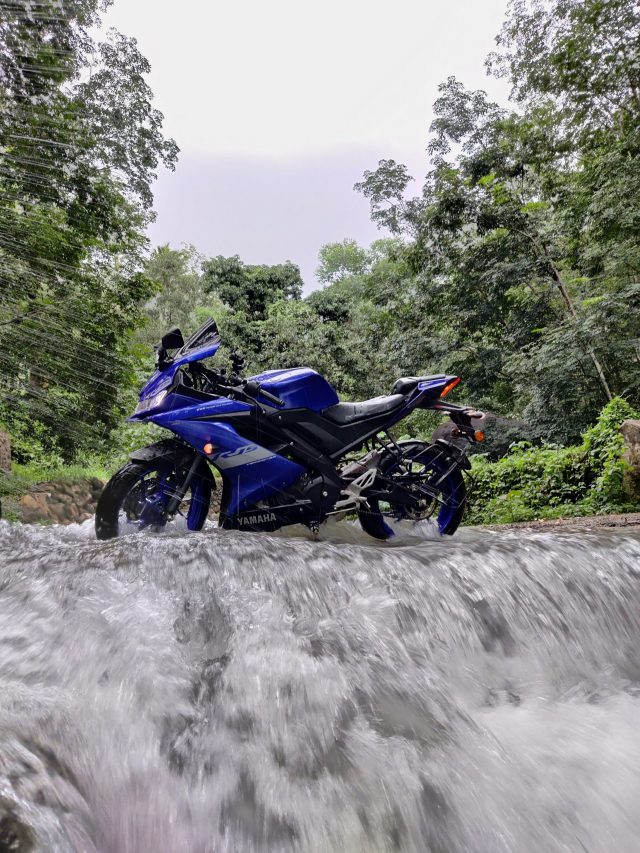 Motorcycle on a River
