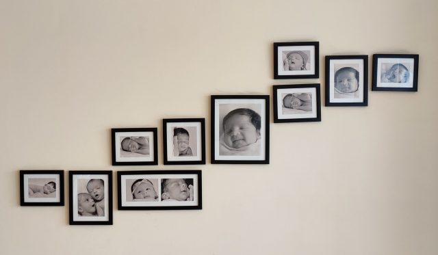 Photo frames of baby