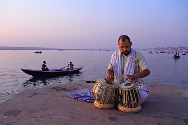 Morning riyaaz by the Ganges in Varanasi