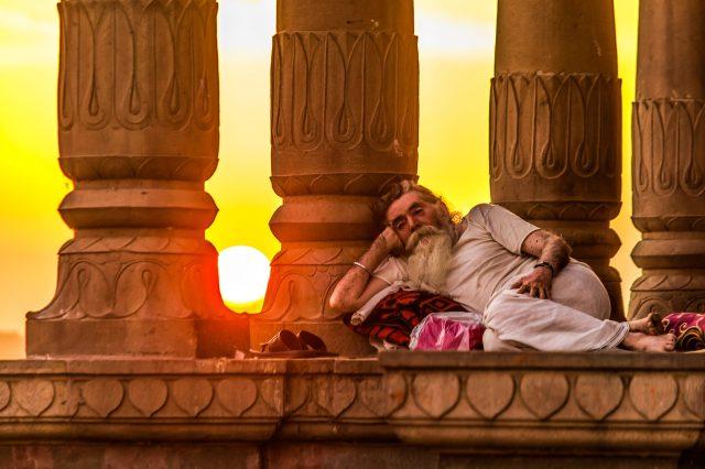Sleeping at Temple