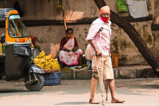 handicap man on the street