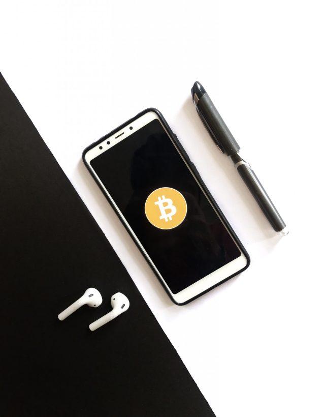 Bitcoin flatlay