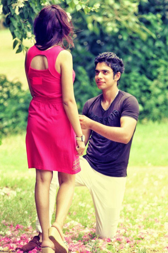 Boy proposing girl