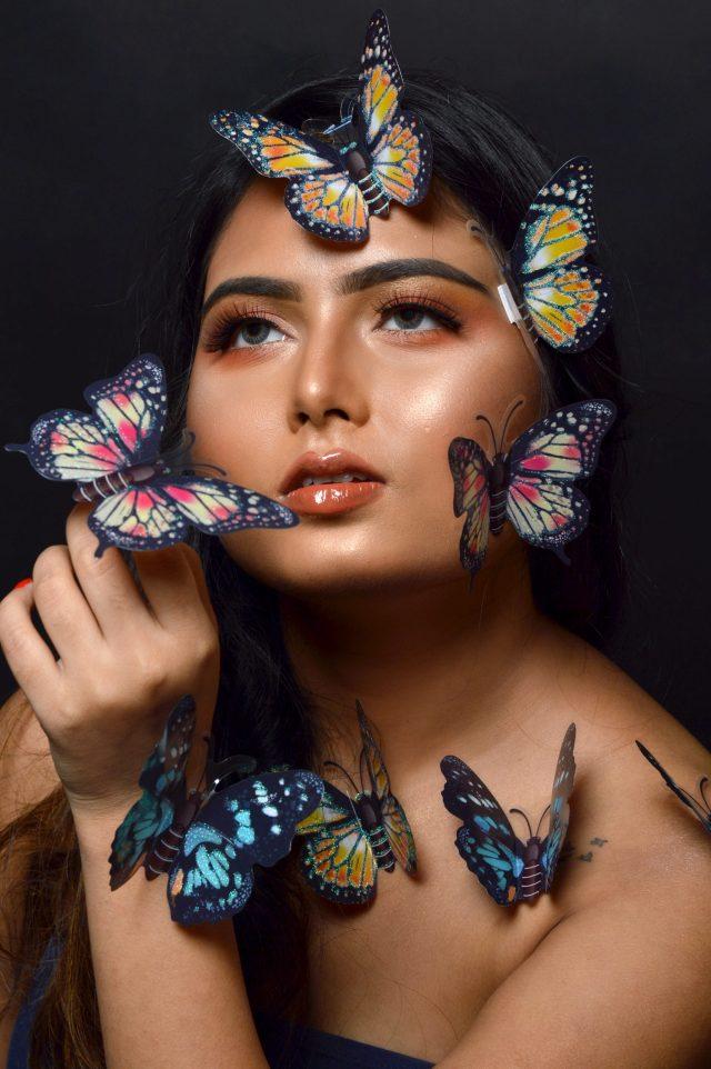 Butterflies and a girl