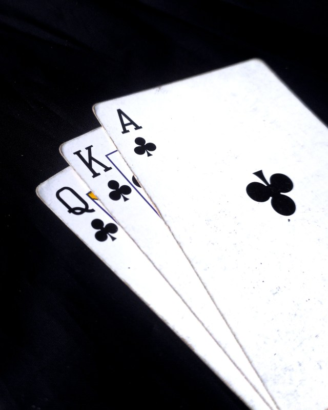 Cards of clubs