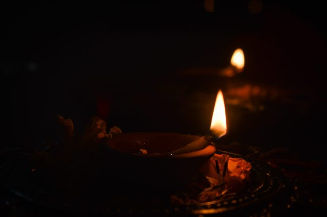 Oil lamps for Diwali