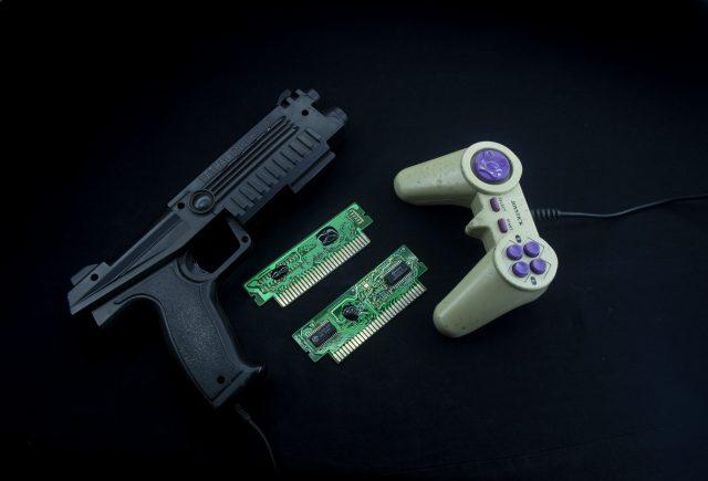 Gaming controller and gun