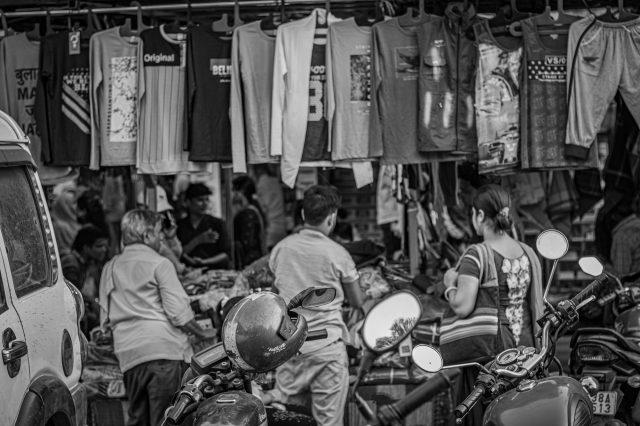 people in a market