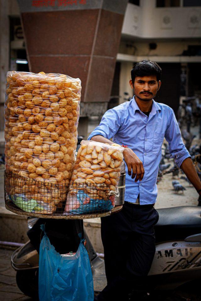 A street food seller