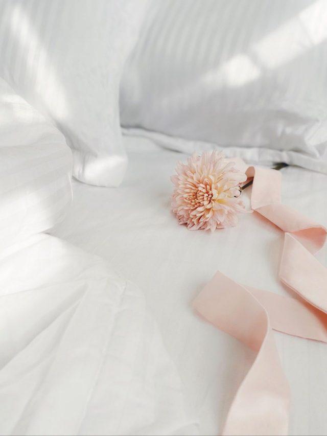 White flower on white cloth
