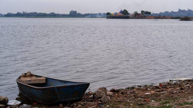Boat at a river bank