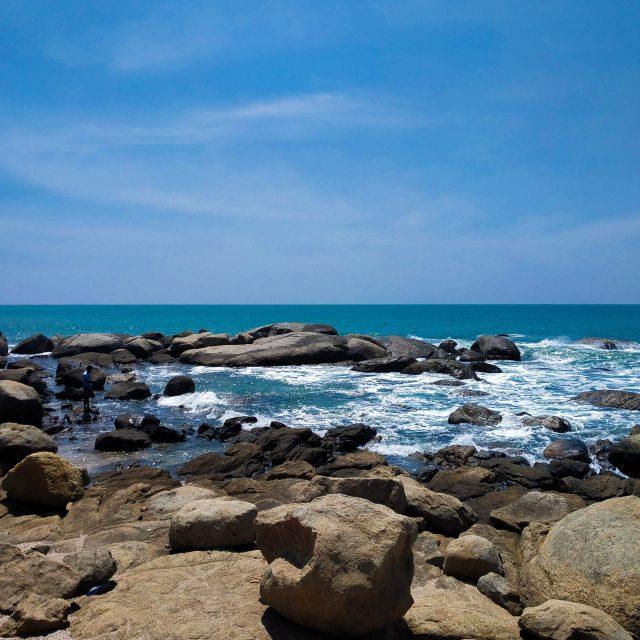 Rocks on Kovalam Beach