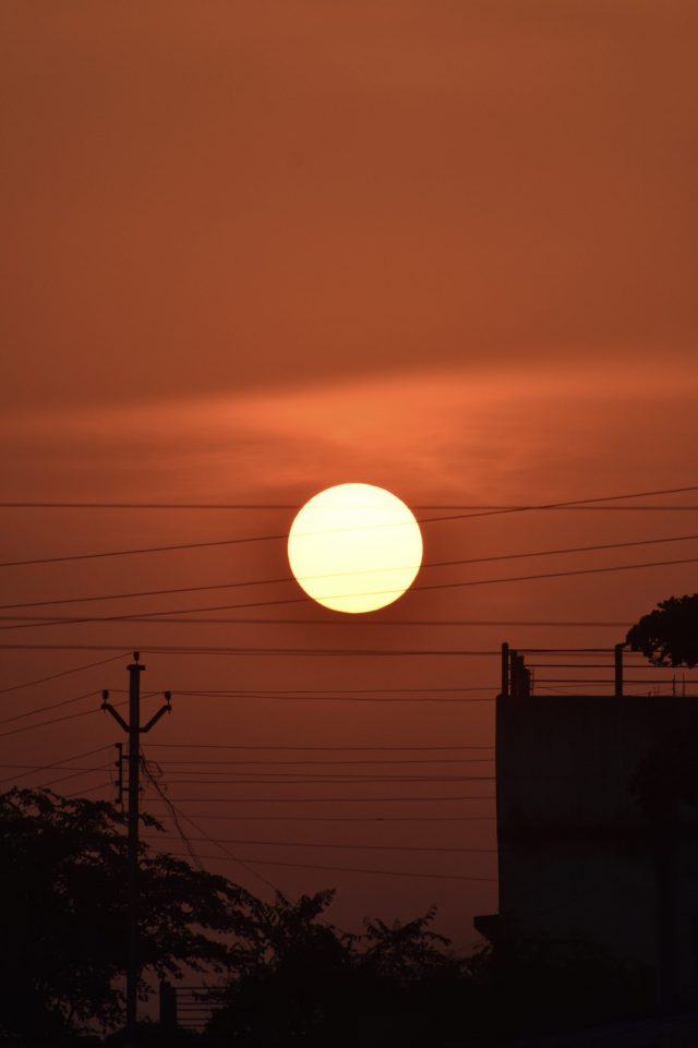 Sun in evening time