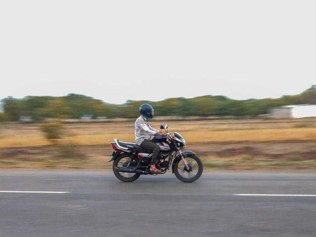 A bike in motion