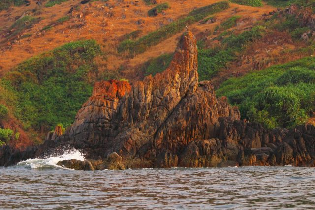 Golden rock near Nivati beach