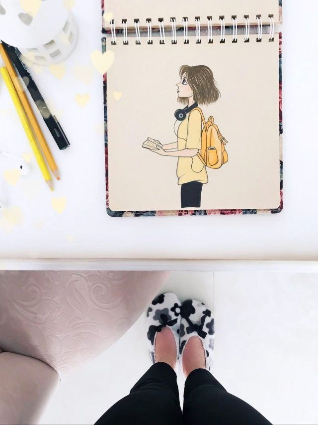 Human legs and a drawing