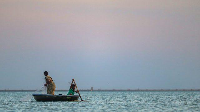 Women sailing in the sea