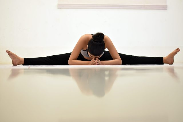 full leg split yoga