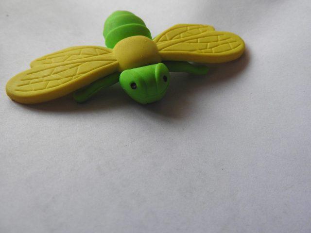 A butterfly like eraser