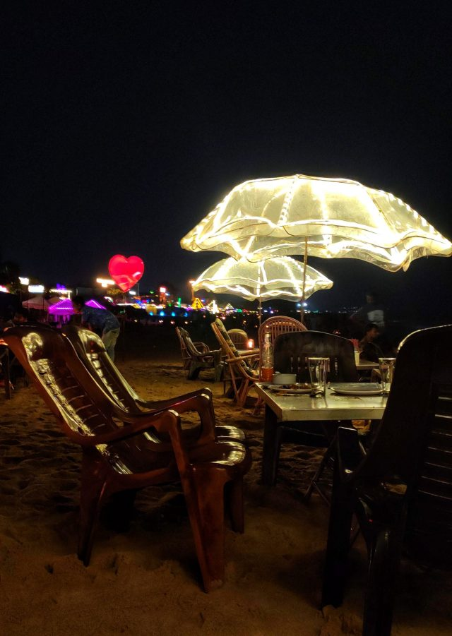 Chairs and tables beach side