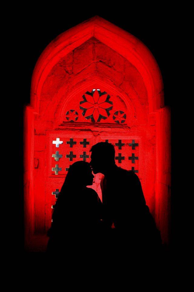 Couple in dark