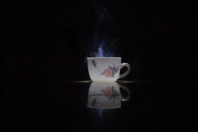 A hot tea cup