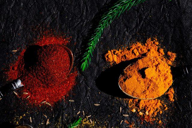 Chilly Powder and Turmeric Powder