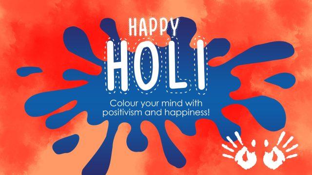 Holi festival greetings illustration